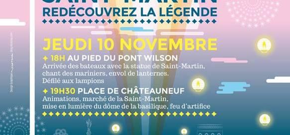 Affiche fête Saint-Martin Tours
